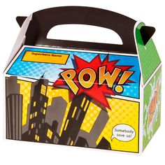 Superhero Comics: Large Loot Boxes 4 Pk Party Supplies Canada & Halloween Supplies Canada - Open A Party