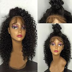 Fantasy Beauty Hair Deep Curly Brazilian Full Lace Wigs V...