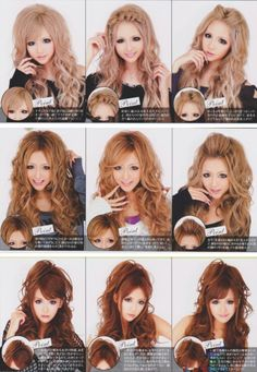 "Japanese ""Gyaru"" Hairstyles"