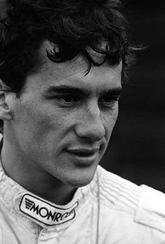 Ayrton Senna - one of the greatest race car drivers. The integrity is in the eyes and damn it reminds me of my son Nicholas.