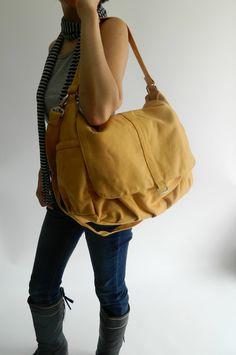SALE SALE SALE -  Daniel in mustard  // Shoulder bag / Messenger / tote bag /hobo/ Diaper bag / Handbag / For Her / new Mom / Women