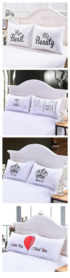 Looking for a nice newlywed gift? What about these adorable pillows. Genius isn't it? Only €12.73