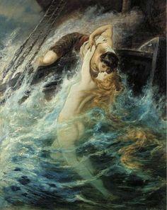 The Kiss of the Siren by Gustav Wertheimer