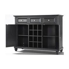 Cambridge Buffet Server in Black   Nebraska Furniture Mart