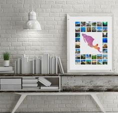 A1/A2/20x16 Travel Photo Collage with Custom by AlovelytimeStore