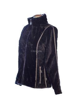 veste polaire femme tyrol noir très jolie vêtent un mixte de fourrure et de polaire et toujours ce beau zip flocon ... et vraiment pas chère