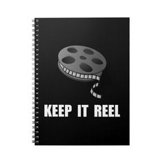 Keep Movie Reel Spiral Notebooks ($19) ❤ liked on Polyvore featuring home, home decor and stationery