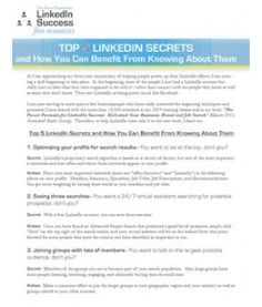 pssst i have a secret and it's these feature/tools on LinkedIn.  betcha didn't know about all of them!