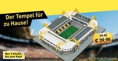 Das größte Fußballstadion Deutschlands für zu Hause. Statt 79,95 Euro zum Aktionspreis von 39,95 Euro. Facebook DEAL LINK bit.ly/1Jxvnpn #BVB #BorussiaDortmund #Fussball #BVBarmy #bundesliga #3liga #bvb15 #bvb16 #borussia #1909 #bvb1909 #nurderbvb #dortmund