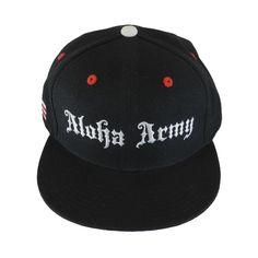 Aloha Army Warrior Black / Black Snapback