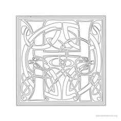 Print Free Alphabet Stencils Celtic H