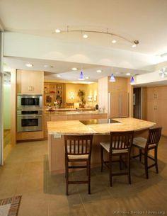 Modern Light Wood Kitchens form Kitchen Design Ideas