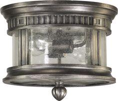 Quorum Lighting 3222-12-91 Presidio Transitional Outdoor Flush Mount Ceiling Light QR-3222-12-91