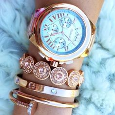 Rose Gold Arm Candy Set