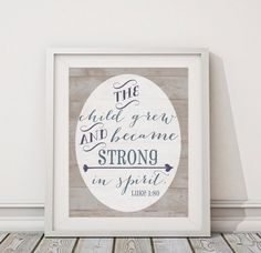 "I love this for a little boy's nursery! Bible verse art print. 8x10"" digital nursery or home decor art print. Instant download, print at home, Bible verse for boy room or nursery"