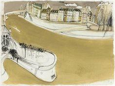 Paris Brett Whitely Abstract Landscape, Landscape Paintings, Abstract Art, Avant Garde Artists, Unusual Art, Urban Sketchers, Paintings I Love, Mixed Media Artists, Australian Artists