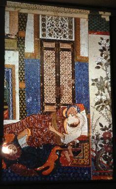 муж, застающий жену за изменой. 14 век, Тебризская школа миниатюры