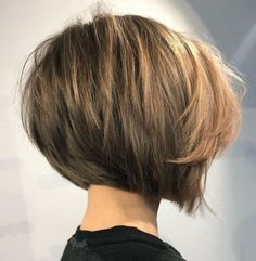 Concave Bob Hairstyles, Messy Bob Hairstyles, Short Hairstyles For Thick Hair, Haircuts For Fine Hair, Short Hair With Layers, Short Hair Cuts, Stylish Haircuts, Pixie Haircuts, Wedding Hairstyles