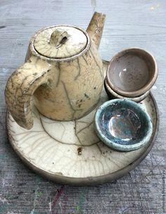 Купить Очень колоритный чайник - бежевый, чайник, посуда ручной работы, посуда из глины, Керамика