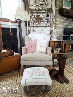 Farmhouse Style Living Room by Prodigal Pieces   prodigalpieces.com