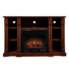 For the Living Room---Baker Electric Media Fireplace - Espresso at HSN.com.