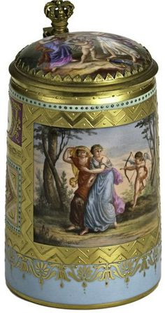 ROYAL VIENNA PORCELAIN STEIN : Lot 543    1       Pinned from  liveauctioneers.com