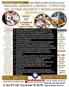 PROEXCELENCIA - Nuevo decreto supremo y resoluciones en materia laboral