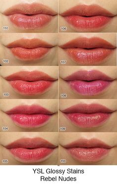 NEW YSL Rouge Pur Couture Glossy Stain Rebel Nudes [Photos  Swatches]