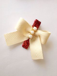 Baby/Girl/Child's Dressy Hair Clip Glitter Red by JandGhandmade, $4.50