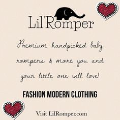 """0 Likes, 2 Comments - Lil'Romper (@lil_romper) on Instagram: """"We are open! Please stop buy and browse. Start shopping 🛒 today! ❤️ LilRomper.com 🐘"""""""