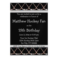 Free Hockey Invitations More Hockey birthday parties and Hockey