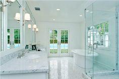 luxurious all white bathroom