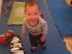 Happy Baby Hulk Boxing & Screamed
