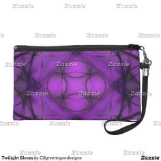 Twilight Bloom Wristlet Purse