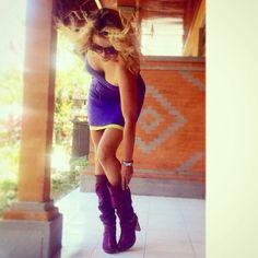 Alena in Annushka shoes. Model 'Florida boots""