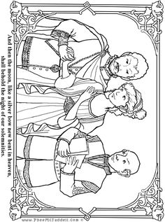 Theseus Egeus Hermia Mid Summer Night's Coloring Pages