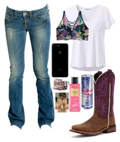 """""""Hanging with babe♡ 1.28.18"""" by mud-lovin-redneck ❤ liked on Polyvore featuring GUESS, prAna, Laredo, Victoria's Secret and Nocona"""
