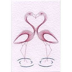 Flamingo Lovers by Sew Cute Cards www.facebook.com/sewcutecards  http://sewcute.storenvy.com