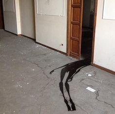 Ghostly Shadows in Abandoned Psychiatric Hospital #StreetArt