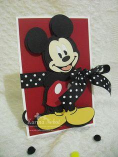 Invitación y dulcero de Mickey Mouse