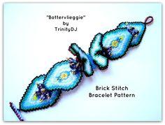 Trinity Designer Jewellery Bottervlieggie Brick Stitch Digital Download Pattern
