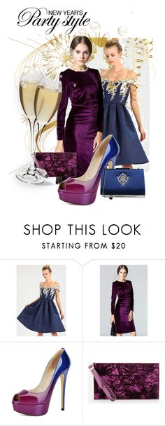 """""""party style"""" by gilliewill ❤ liked on Polyvore featuring Chi Chi, Ashley Stewart and Badgley Mischka"""