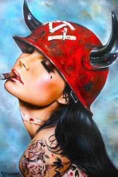 Brian M. Viveros #InkedMagazine #art #artwork #painting