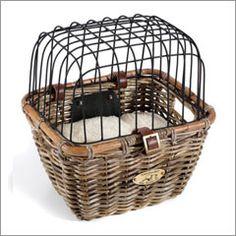 dog baskets for a bike | ... .com - Dog Bicycle Carriers > Tuckernuck Rattan Dog Bicycle Basket