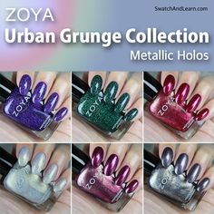 Zoya Urban Grunge Collection Swatches