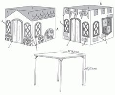 card table play tent...mc calls pattern 6369
