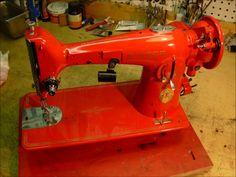 Step by step Repainting a vintage Singer sewing machine