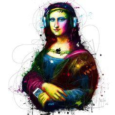 size: Art Print: Mona Lisa's Song by Patrice Murciano : Copyright by International Graphics 1981 GmbH Mona Lisa Louvre, Mona Lisa Secrets, Patrice Murciano, Pop Art, Street Art, Mona Lisa Parody, Canvas Prints, Art Prints, Skull Art