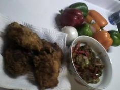 FRIED CHICKEN AND ROASTED VEGGIES