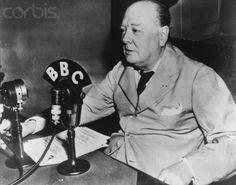 Winston Churchill, a wartime speech. Photo Courtesy of corbisimages.com